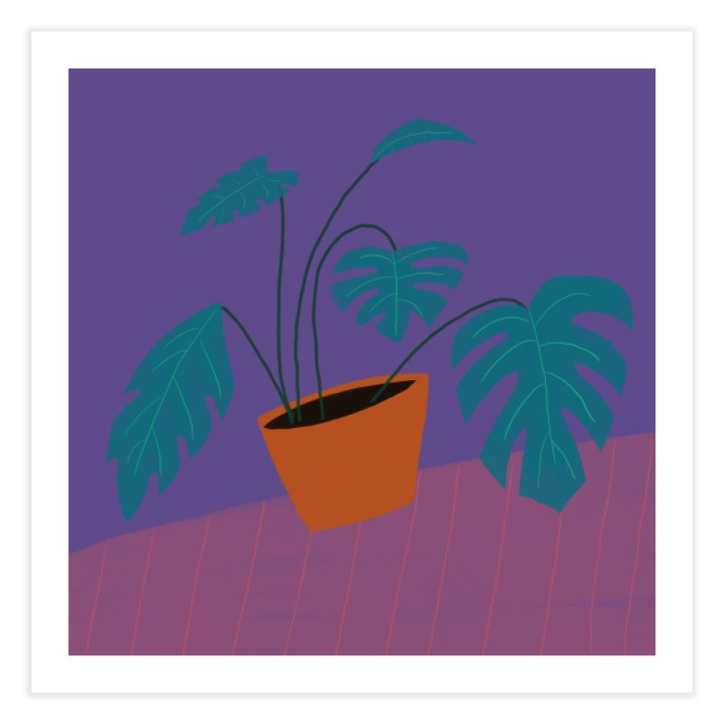 Ultra Violet Philodendron Home Fine Art Print by Michael Pfleghaar