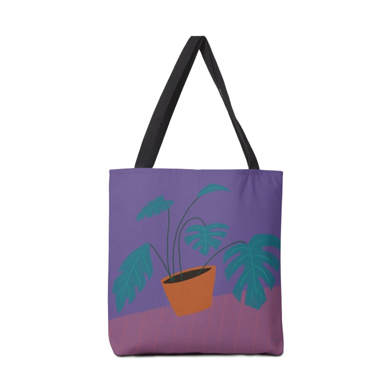 Ultra Violet Philodendron Accessories Bag by Michael Pfleghaar