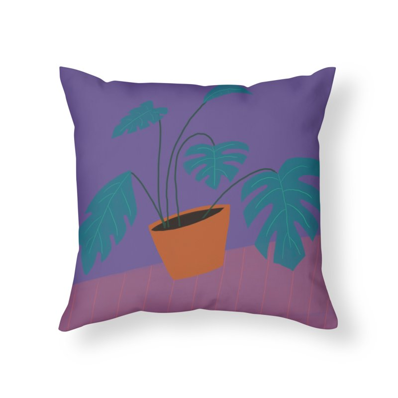 Ultra Violet Philodendron in Throw Pillow by Michael Pfleghaar