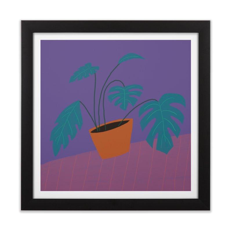 Ultra Violet Philodendron Home Framed Fine Art Print by Michael Pfleghaar
