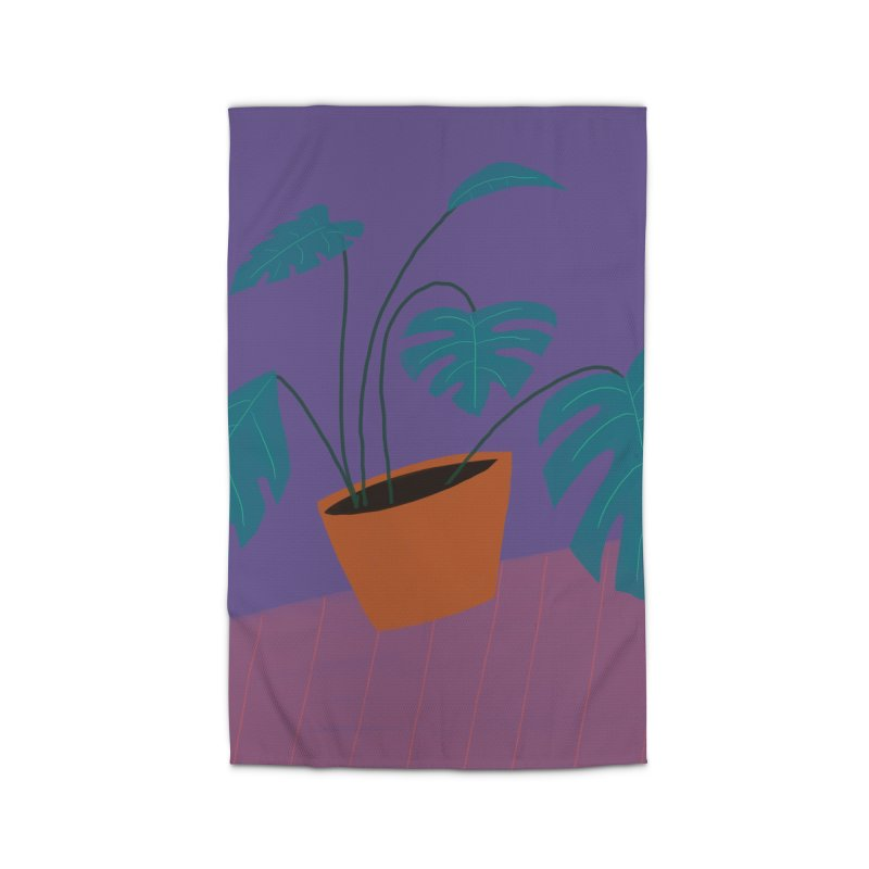Ultra Violet Philodendron Home Rug by Michael Pfleghaar