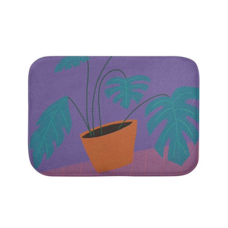 Ultra Violet Philodendron Home Bath Mat by Michael Pfleghaar