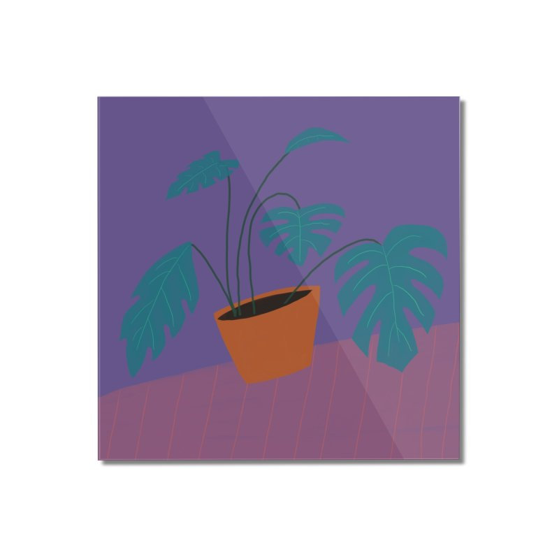 Ultra Violet Philodendron Home Mounted Acrylic Print by Michael Pfleghaar