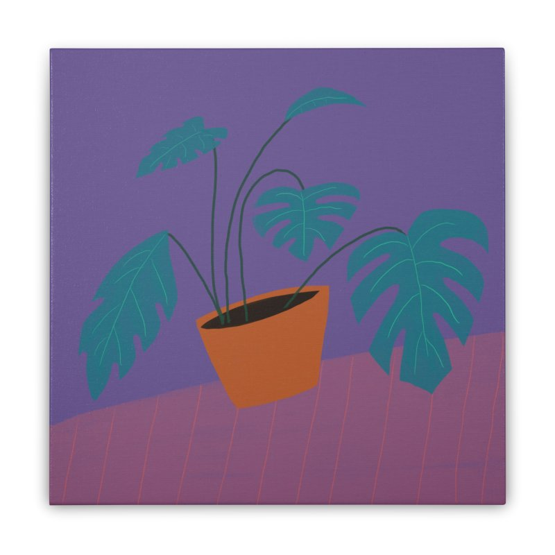 Ultra Violet Philodendron Home Stretched Canvas by Michael Pfleghaar