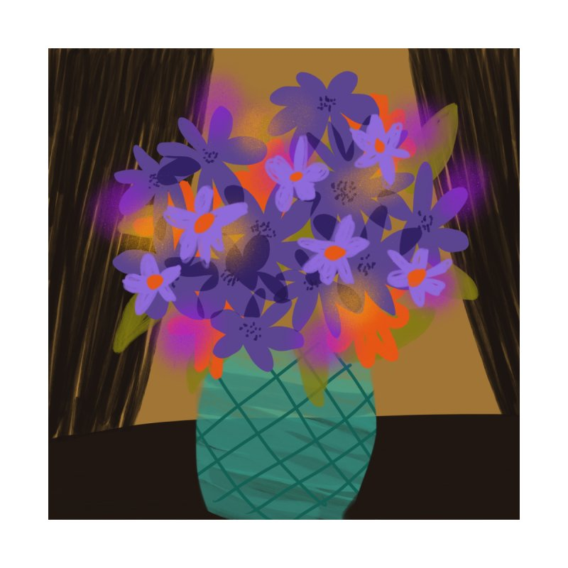 Ultra Violet Bouquet 1 Home Framed Fine Art Print by Michael Pfleghaar