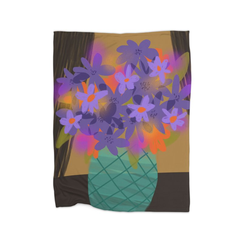 Ultra Violet Bouquet 1 Home Blanket by Michael Pfleghaar