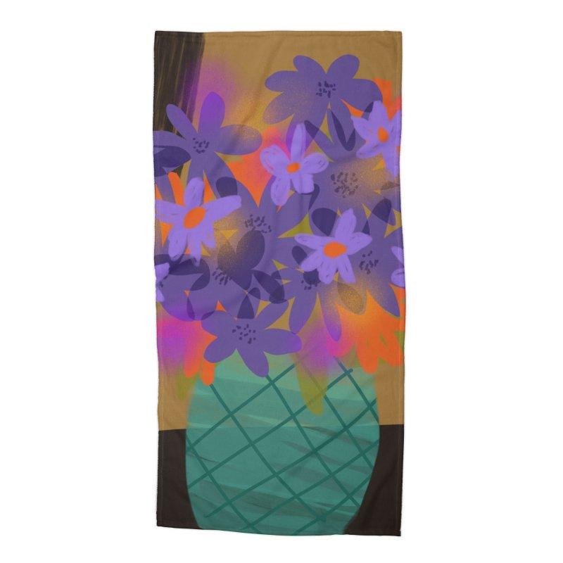 Ultra Violet Bouquet 1 Accessories Beach Towel by Michael Pfleghaar