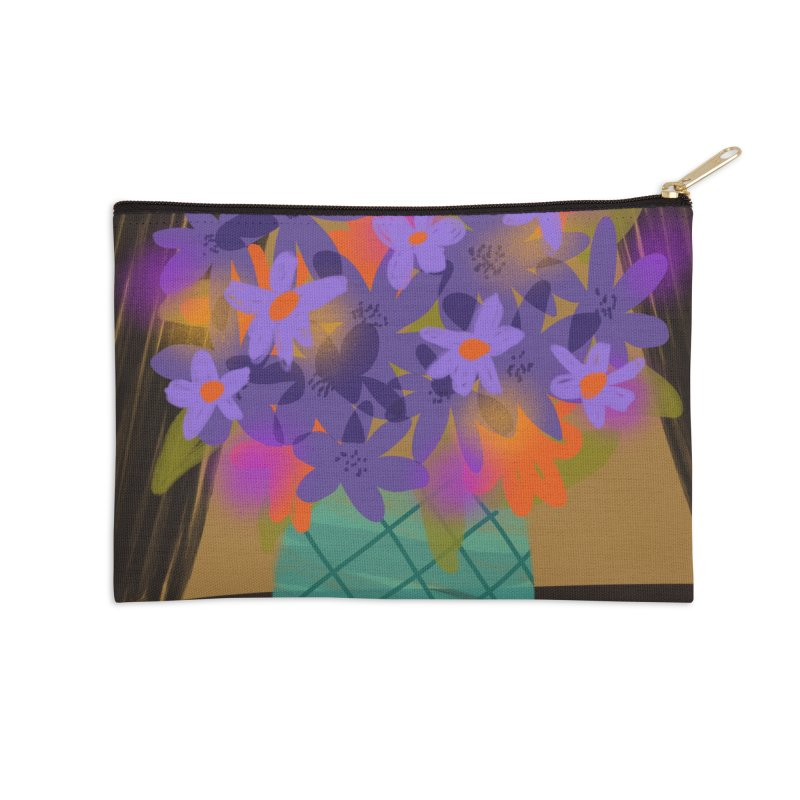 Ultra Violet Bouquet 1 Accessories Zip Pouch by Michael Pfleghaar