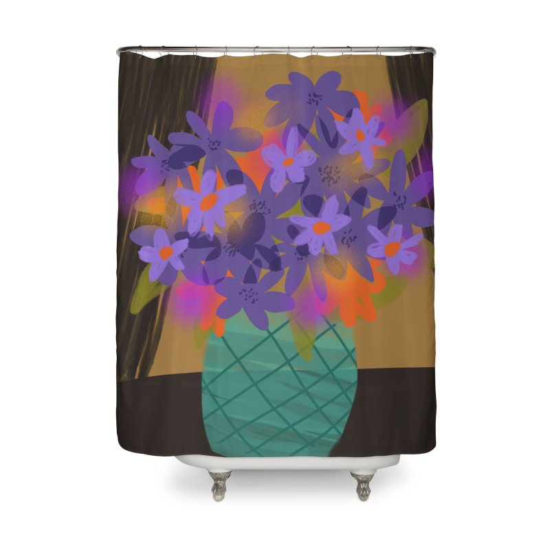 Ultra Violet Bouquet 1 Home Shower Curtain by Michael Pfleghaar