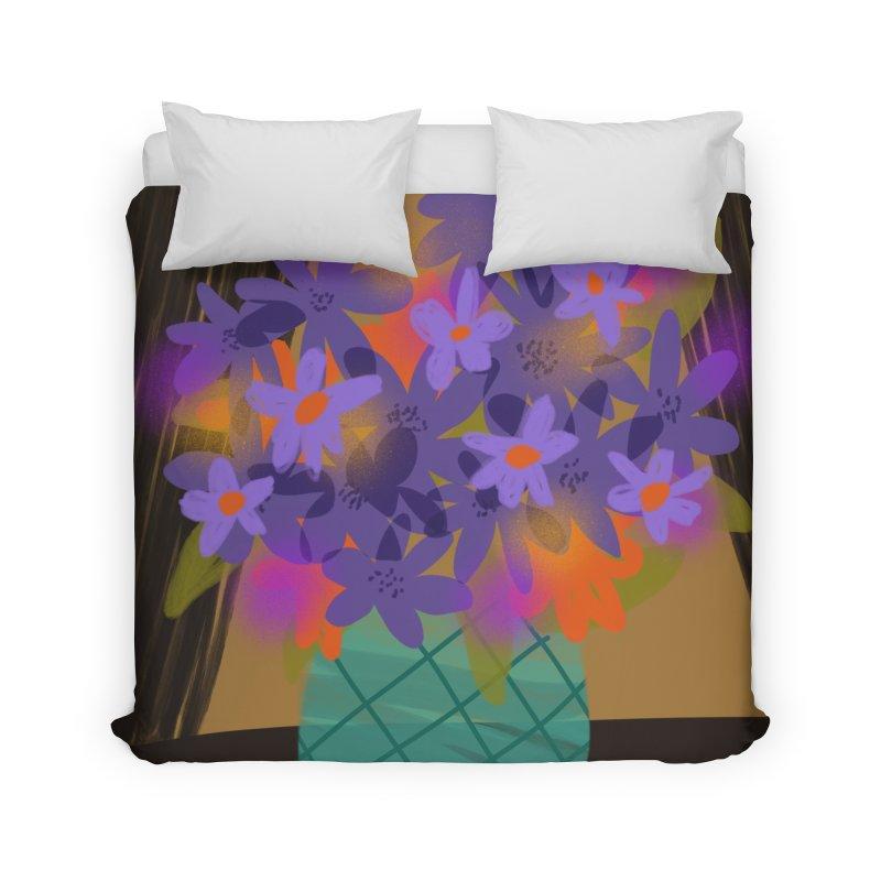 Ultra Violet Bouquet 1 Home Duvet by Michael Pfleghaar