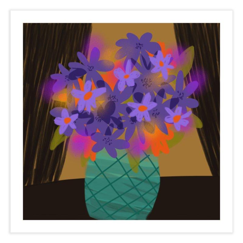 Ultra Violet Bouquet 1 Home Fine Art Print by Michael Pfleghaar