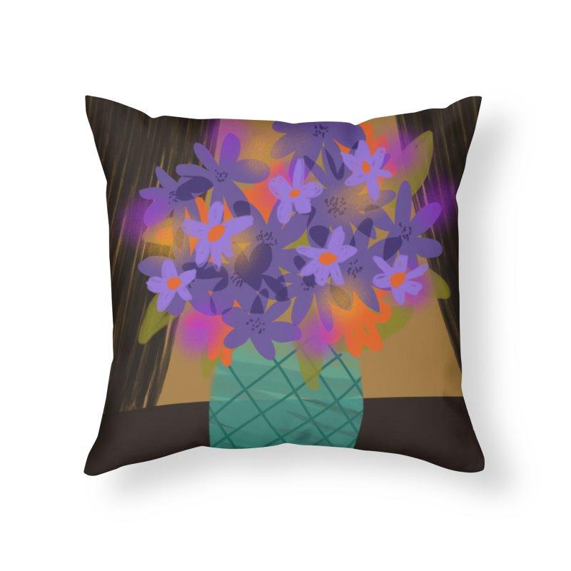Ultra Violet Bouquet 1 Home Throw Pillow by Michael Pfleghaar