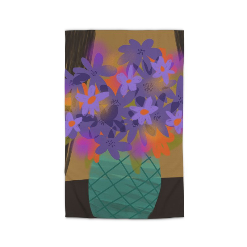 Ultra Violet Bouquet 1 Home Rug by Michael Pfleghaar