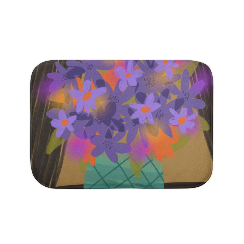 Ultra Violet Bouquet 1 Home Bath Mat by Michael Pfleghaar