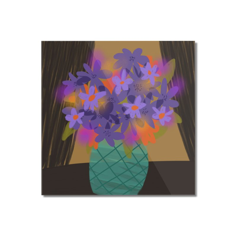 Ultra Violet Bouquet 1 Home Mounted Acrylic Print by Michael Pfleghaar