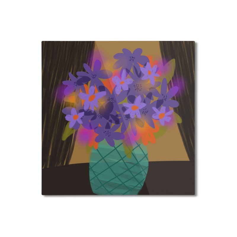 Ultra Violet Bouquet 1 Home Mounted Aluminum Print by Michael Pfleghaar