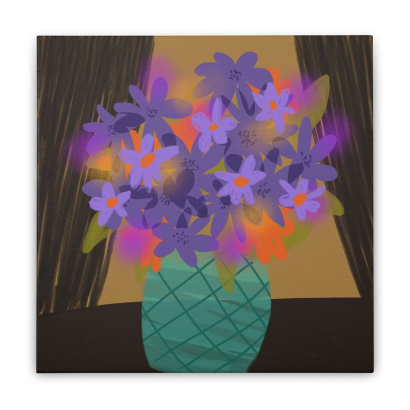 Ultra Violet Bouquet 1 in Stretched Canvas by Michael Pfleghaar