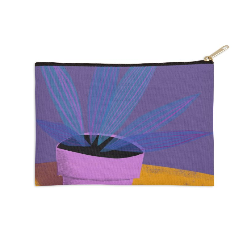 Ultra Violet Striped Plant 2 Accessories Zip Pouch by Michael Pfleghaar