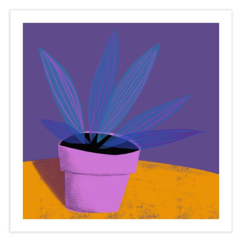 Ultra Violet Striped Plant 2 Home Fine Art Print by Michael Pfleghaar
