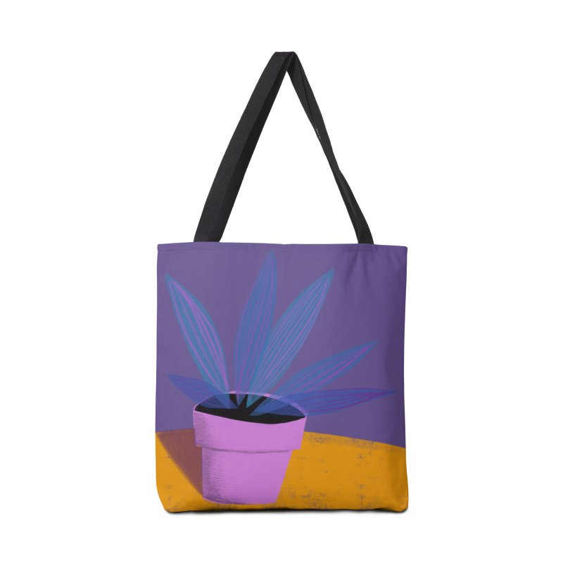 Ultra Violet Striped Plant 2 Accessories Bag by Michael Pfleghaar