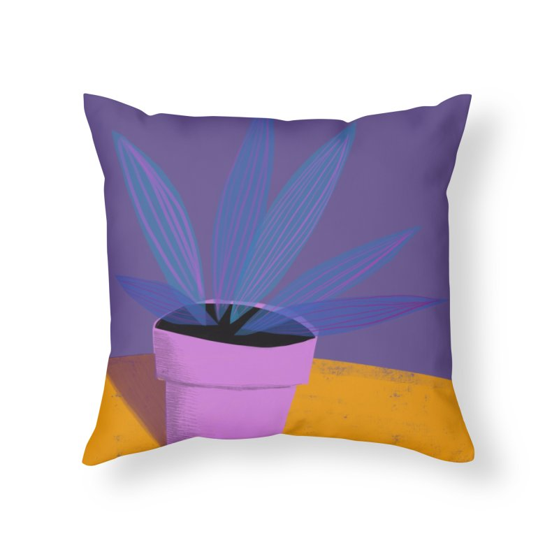 Ultra Violet Striped Plant 2 Home Throw Pillow by Michael Pfleghaar