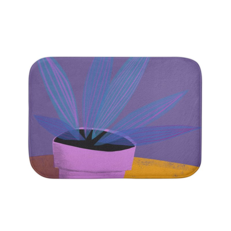 Ultra Violet Striped Plant 2 Home Bath Mat by Michael Pfleghaar