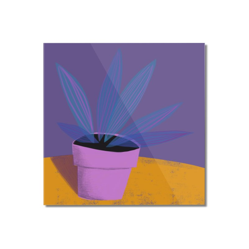 Ultra Violet Striped Plant 2 Home Mounted Acrylic Print by Michael Pfleghaar