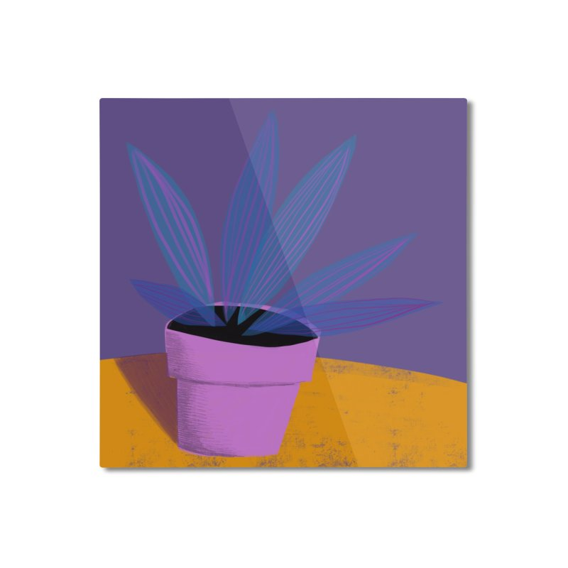 Ultra Violet Striped Plant 2 Home Mounted Aluminum Print by Michael Pfleghaar