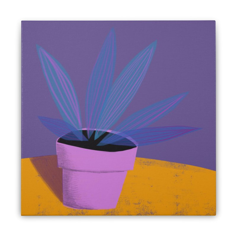 Ultra Violet Striped Plant 2 Home Stretched Canvas by Michael Pfleghaar