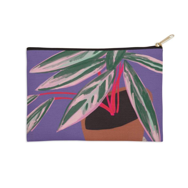 Ultra Violet Stromanthe Plant Accessories Zip Pouch by Michael Pfleghaar