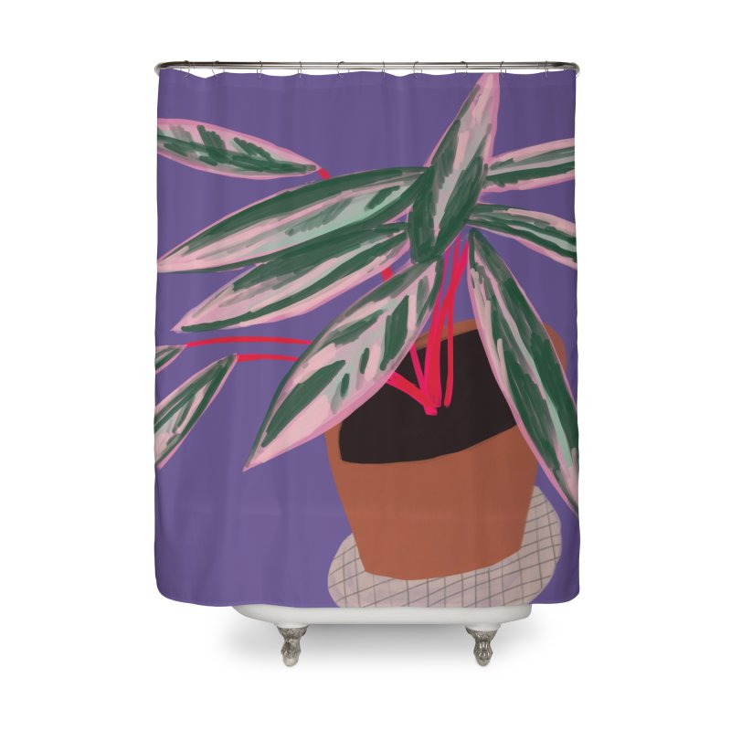 Ultra Violet Stromanthe Plant Home Shower Curtain by Michael Pfleghaar