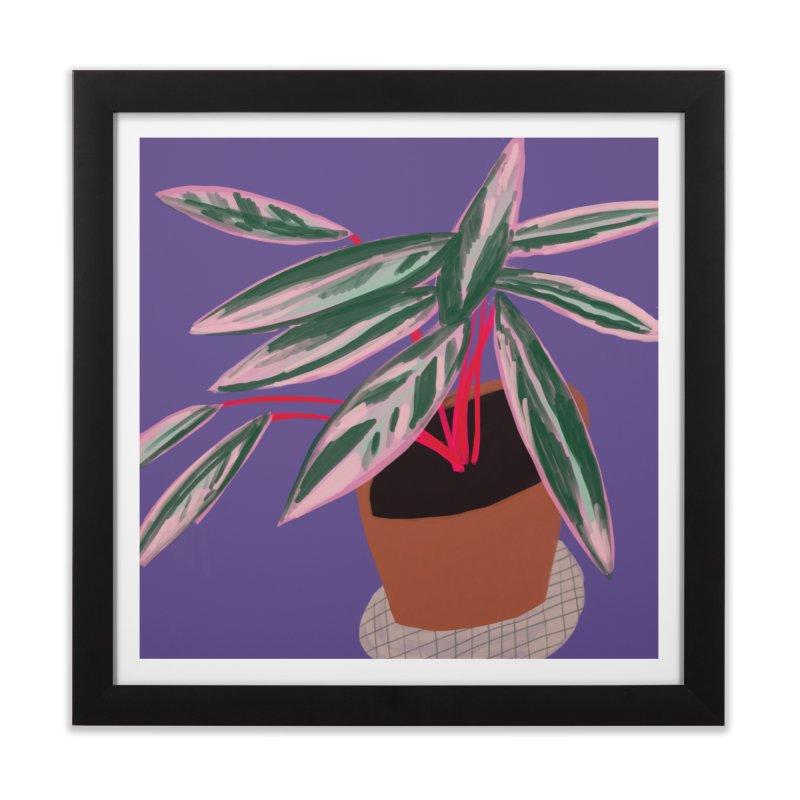 Ultra Violet Stromanthe Plant Home Framed Fine Art Print by Michael Pfleghaar
