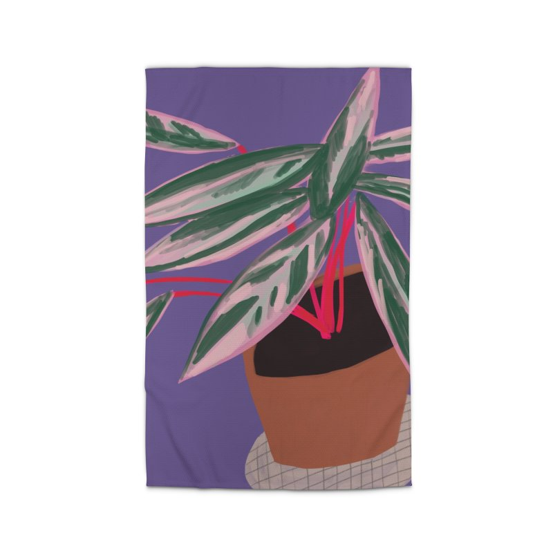 Ultra Violet Stromanthe Plant Home Rug by Michael Pfleghaar