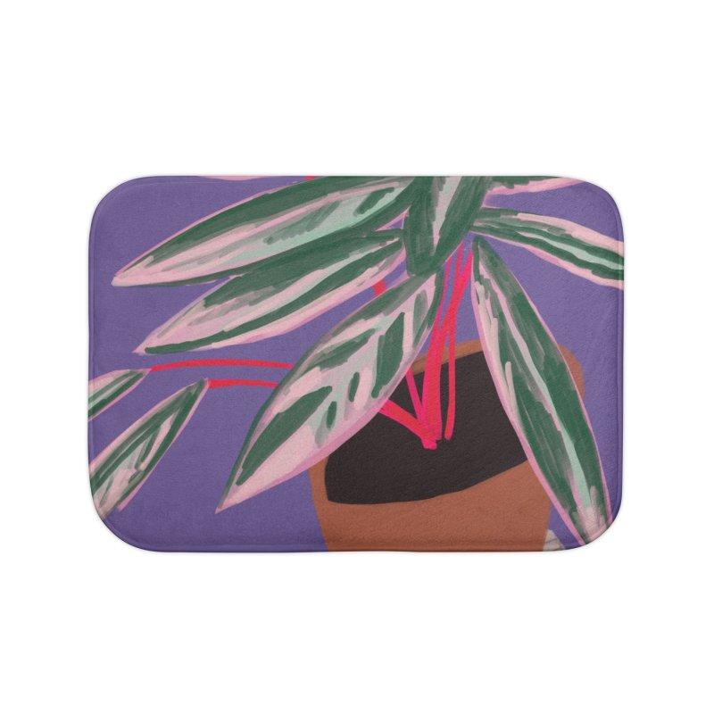 Ultra Violet Stromanthe Plant Home Bath Mat by Michael Pfleghaar