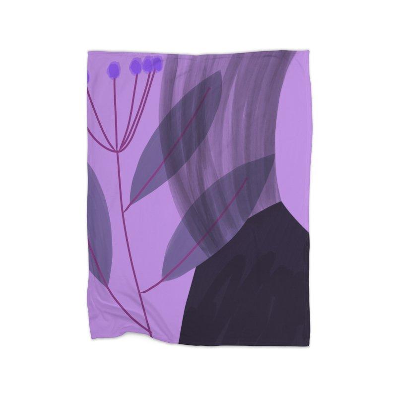 New Leaf 5 Home Blanket by Michael Pfleghaar