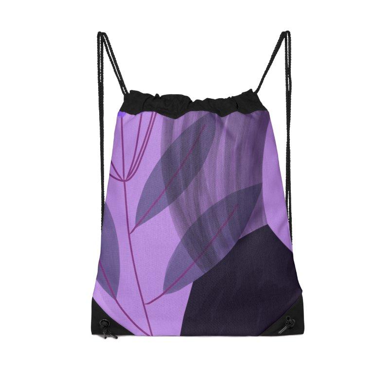 New Leaf 5 Accessories Drawstring Bag Bag by Michael Pfleghaar