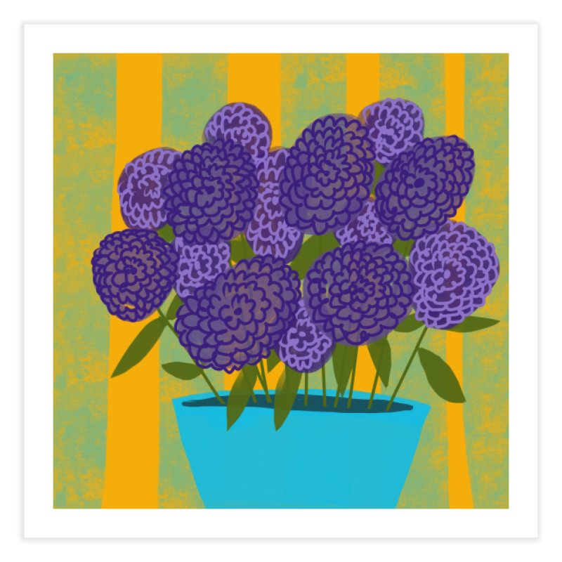Ultra Violet Bouquet #2 Home Fine Art Print by Michael Pfleghaar