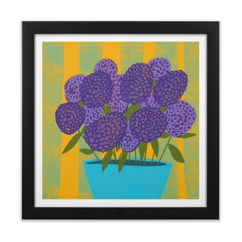 Ultra Violet Bouquet #2 Home Framed Fine Art Print by Michael Pfleghaar