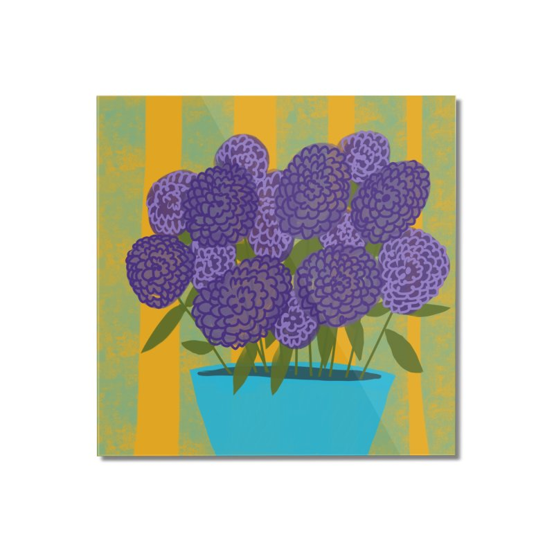 Ultra Violet Bouquet #2 Home Mounted Acrylic Print by Michael Pfleghaar