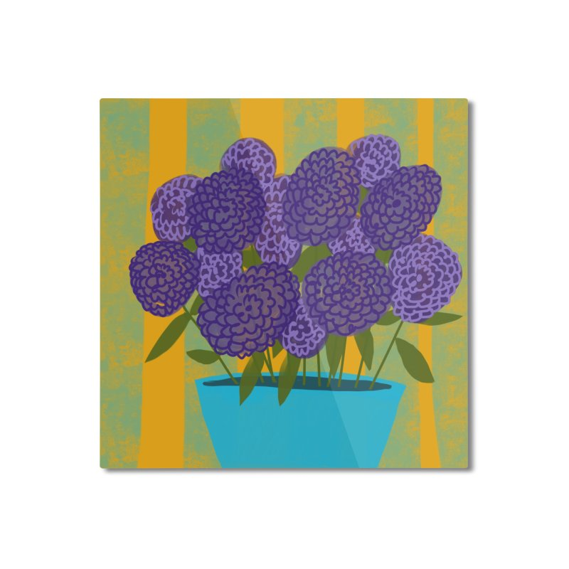 Ultra Violet Bouquet #2 Home Mounted Aluminum Print by Michael Pfleghaar