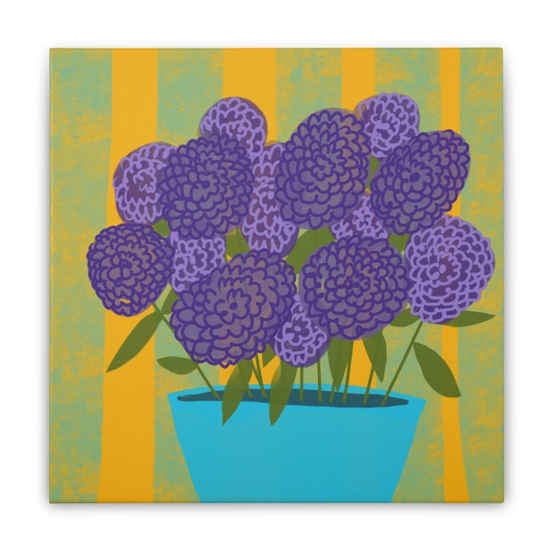Ultra Violet Bouquet #2 Home Stretched Canvas by Michael Pfleghaar