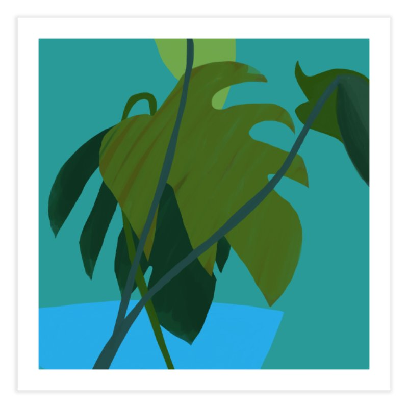 Philodendron Leaves Home Fine Art Print by Michael Pfleghaar