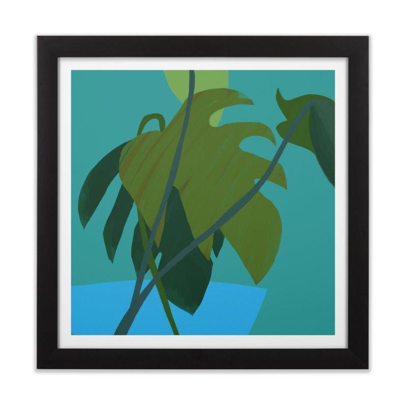 Philodendron Leaves Home Framed Fine Art Print by Michael Pfleghaar