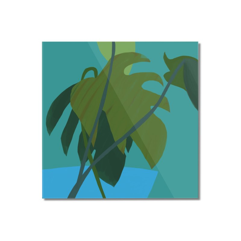 Philodendron Leaves Home Mounted Acrylic Print by Michael Pfleghaar