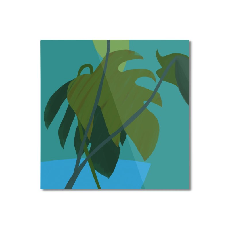 Philodendron Leaves Home Mounted Aluminum Print by Michael Pfleghaar