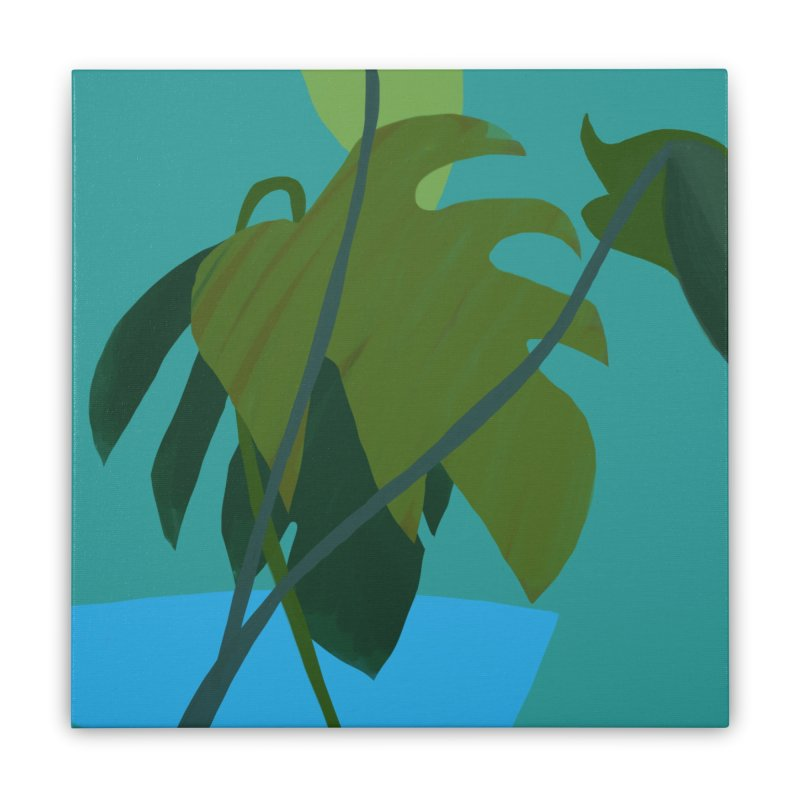 Philodendron Leaves Home Stretched Canvas by Michael Pfleghaar