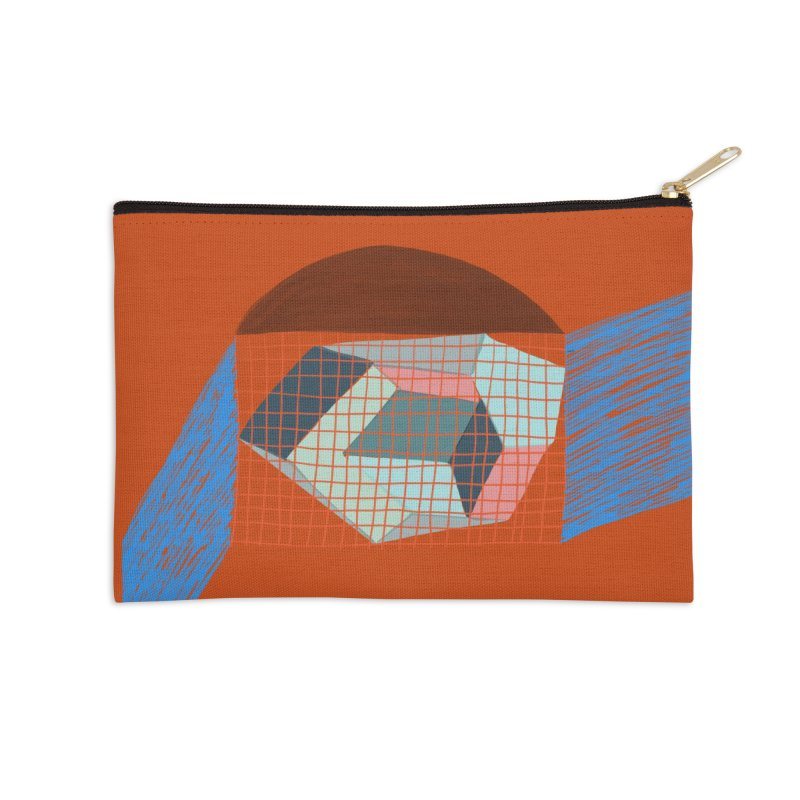 Imaginary Architecture 1 Accessories Zip Pouch by Michael Pfleghaar