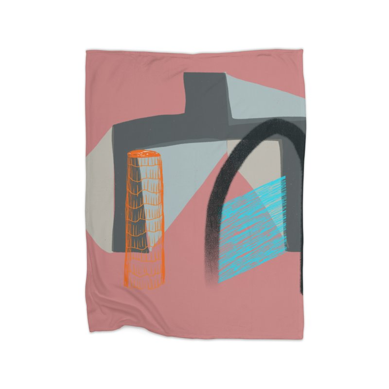 Imaginary Architecture 2 Home Blanket by Michael Pfleghaar