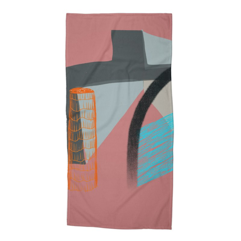 Imaginary Architecture 2 Accessories Beach Towel by Michael Pfleghaar