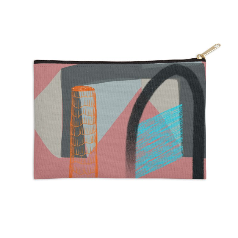 Imaginary Architecture 2 Accessories Zip Pouch by Michael Pfleghaar